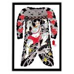 Framed Irezumi bodysuit tattoo artwork featuring Rorihakucho Chojun