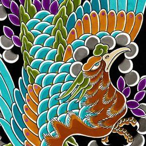 Detail of Phoenix Ho-o bird