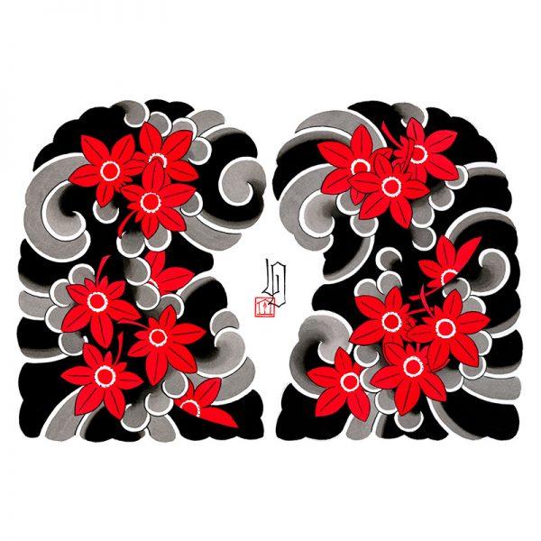 Full image of Irezumi artwork featuring Maple Leaves